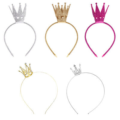 Baby Kid Girl Princess Crown Headband Glittery Tiara Hair Band Party Accessories