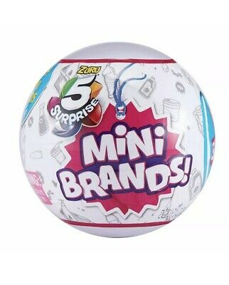 5 Surprise Mini Brands - 1 Ball (5 total figs.) - ZURU - New & Sealed! Free Ship