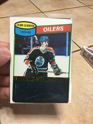 1980-81 Wayne Gretzky Topps Team Leaders Unscratched #182 2nd Year Card