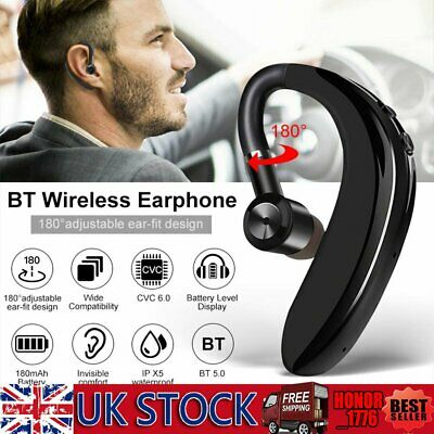 Bluetooth 5.0 Headphones Sport Stereo Noise Cancelling Business Headset Ear Hook