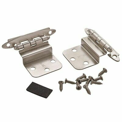 20 10 Pair Amerock cabinet hinges 3//8 Inset  bp-7128  Burnished Brass