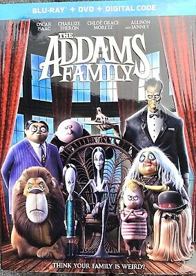 ADDAMS FAMILY, THE (2020, Blu-ray + DVD + Slipcover) No Digital Included