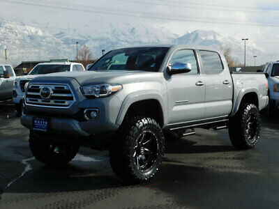 2018 Toyota Tacoma LIMITED LIFTED TACOMA DOUBLE CAB LIMITED 4X4 3.5L V6 LEATHER NAV ROOF CUSTOM WHEELS AUTO