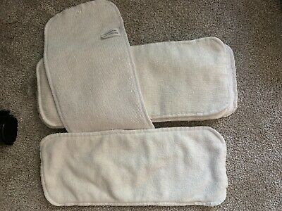 Lot of 6 Large Microfiber Cloth Diaper Inserts, pre-owned and unbranded