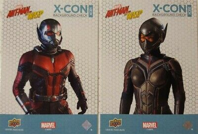 2018  Ant-Man and the Wasp Trading Card Set X - C0N BACKGROUND CHECK ( 10 )