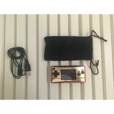 Nintendo Game Boy Micro NES Color & USB cable for charging & Dedicated porch