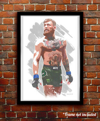 CONOR McGREGOR watercolor painting art print/poster UFC MMA FREE S&H!