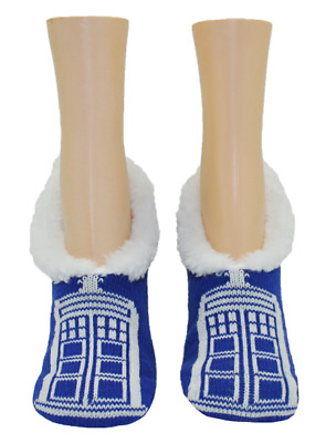 NWT Doctor Who Knee High Socks Time Lord Gray Size 4-10