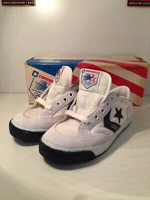 Vintage Old Shop Stock 1984 Olympics Converse Shoes Kids Child's UK 2 Sneakers