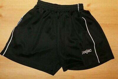 Boys black Teejac 100% polyester shorts. Size XXS. Age 7-8. School Shorts.
