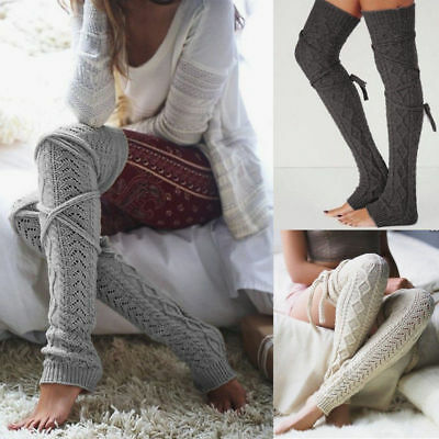 Ladies Girls Long Over The Knee Plain Cotton Sock Attractive Colour Fashion UK