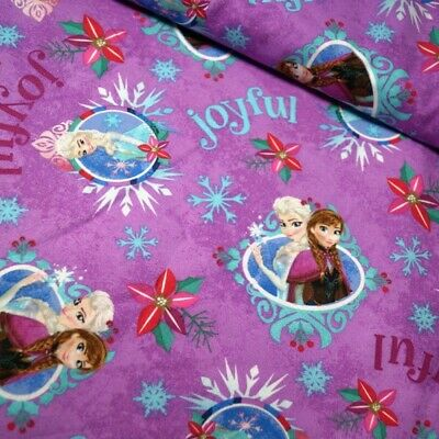 SALE 100% Cotton Fabric Springs Creative Disney Frozen Sisters Joyful Snow Ice