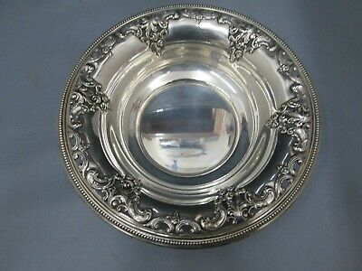 Wallace Grand Baroque Sterling Silver Candy Dish Bowl 4850 9