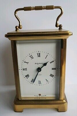 BAYARD FRENCH CARRIAGE CLOCK vintage 8 day DUVERDREY & BLOQUEL 9 Jewels GWO