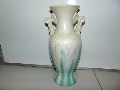 Crystalline Vase with Handles Artist Signed