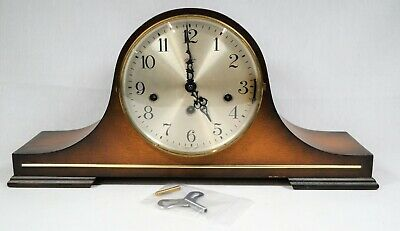 Linden Mechanical Mantle Clock with Key Made in Germany **For Refurbishment**