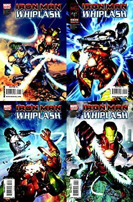 WHIPLASH #1 New Bagged IRON MAN Vs of 4