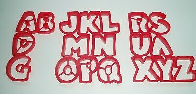 VINTAGE JELLO JIGGLERS ALPHABET LETTERS RED x19 LETTERS ONLY PART SET NEW OTHER
