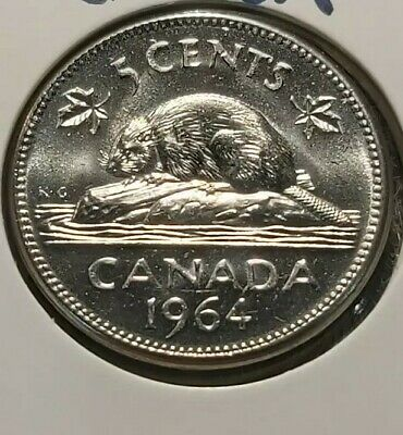 1964 CIBC Bank Sealed Mint Roll Canada Nickels 5 Cent UNC BU Uncirculated Coin