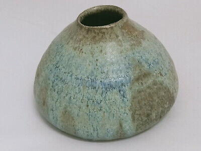 Vintage 1970's Australian Pottery Vase Volcano Shaped - Signed Smith 78