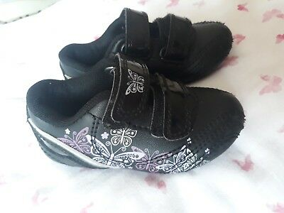 A Pair Of Girls Black Trainers Size Infant 5
