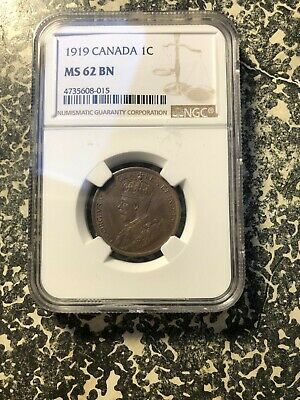 1919 Canada Large Cent NGC MS62 Lot#G708
