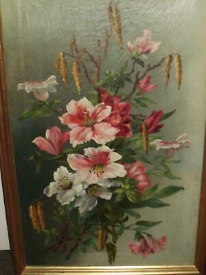 Late C19Th - Early C20Th Floral Oil On Canvas Gilt Framed
