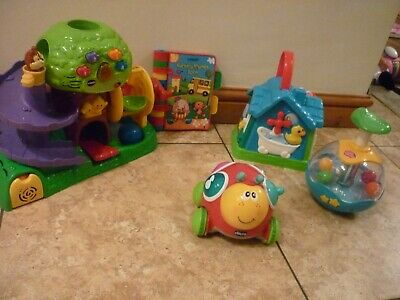 Bundle Baby Toys VTech Treehouse & Balls  Busy House  Spin Top