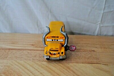 Disney Pixar Cars 3 Miss Fritter School Bus-2016 Mattel-It's Fritter Time *USED*