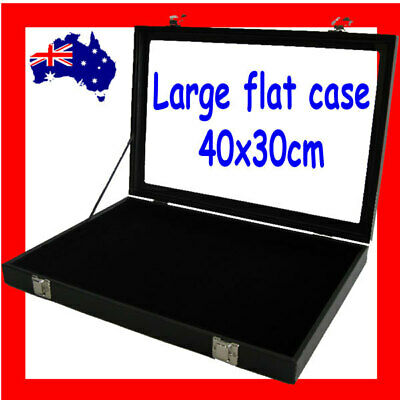 Jewellery Case Box Flat GLASS Lid  | LARGE 40x30cm | Reliable | AUSSIE Seller
