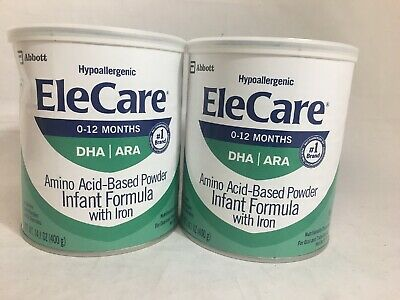 2 cans EleCare Infant Powder Formula 2020 Dent FREE FAST PRIORITY SHIPPING