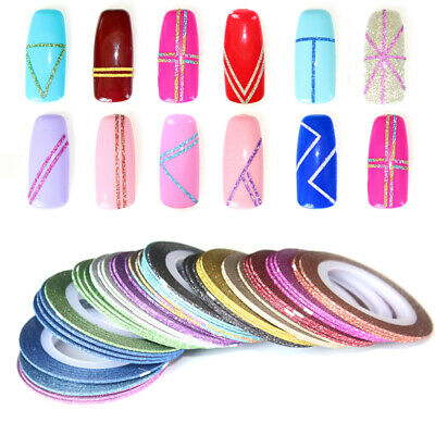 6Pcs Mixed Colors Rolls Striping Tape Line DIY Nail Art Tips Sticker Decoration