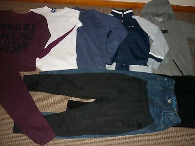 Bundle Boys Clothes age 12-13yrs MacKenzie Nike Next Gap Jeans Tops Hoodi PJ's