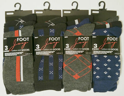 3 NEW PAIRS MENS BUSINESS EXECUTIVE DAILY SOCKS SIZE 6-11 SMART CASUAL