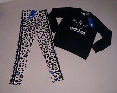 Adidas Leopard Set / Tracksuit. Aged 9-10 Years.
