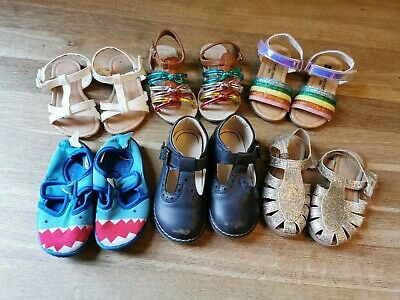 Bundle Of Girls Shoes And Sandals Infant Size 6 Summer 6 pairs