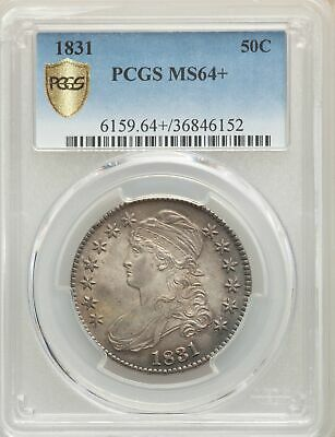 1831 US Silver 50C Capped Bust Half Dollar - PCGS MS64+