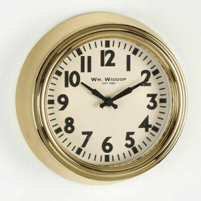 Round Metal Gold Wall Clock Arabic Dial 25.5cm