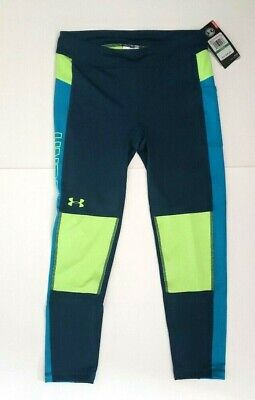 NWT Under Armour Girls Youth Large Leggings Blue Teal New