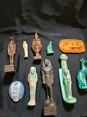 Collection Rare EGYPTIAN ANTIQUES Figure 10 statues 1549-1123 BC
