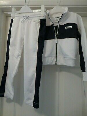100% Authentic Converse Tracksuit in White/Navy, Age 3-4 Years, 96 - 104cm, BNWT
