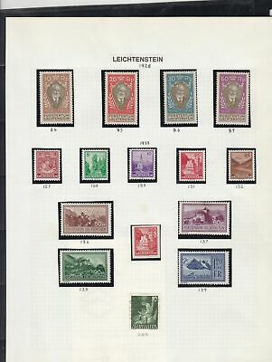 liechtenstein mounted mint stamps page ref 16976