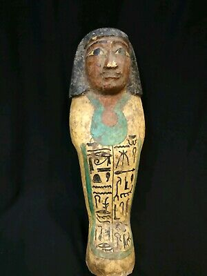 Rare Antique Ancient Egyptian Statue Ushabti wooden 1321Bc