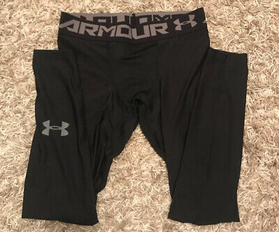 Under Armour Mens Running Tights/Leggings Tight Fit, Elasticated Waist In Large