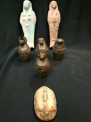 Collection Rare EGYPTIAN ANTIQUES Figure 7 pieces 1549-1123 BC