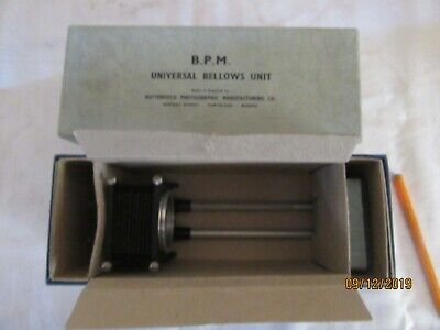 BPM Universal Bellows Unit. Boxed and in very good condition