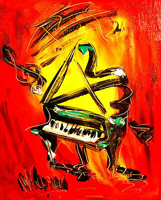 Mark Kazav  GRAND PIANO  Abstract Modern CANVAS Original Oil Painting 3THTH