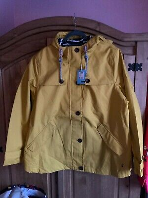JOULES WOMENS COAST WATERPROOF COAT JACKET IN ANTIQUE GOLD Size 18
