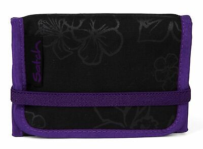 satch Purse Wallet Purple Hibiscus