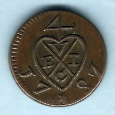 Penang - East India Co. 1787 Half Cent..  19mm  gVF